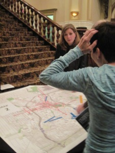 VIA meeting where citizens proposed streetcar routes. It was hard to pick!