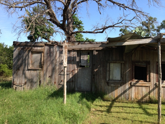 The boxcar where the people of Florence once lived.