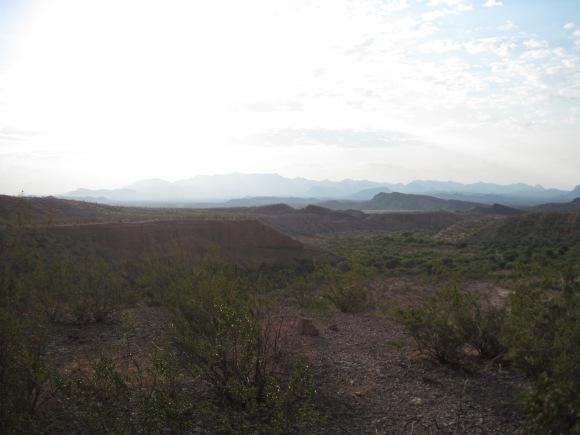 The terrain.